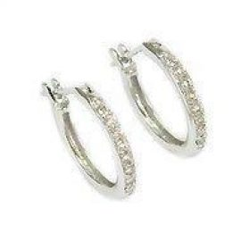 18kt Diamond Earring Hoops